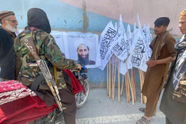 GFATF - LLL - Talibans supreme leader Mullah Hibatullah Akhundzada arrives in Kandahar
